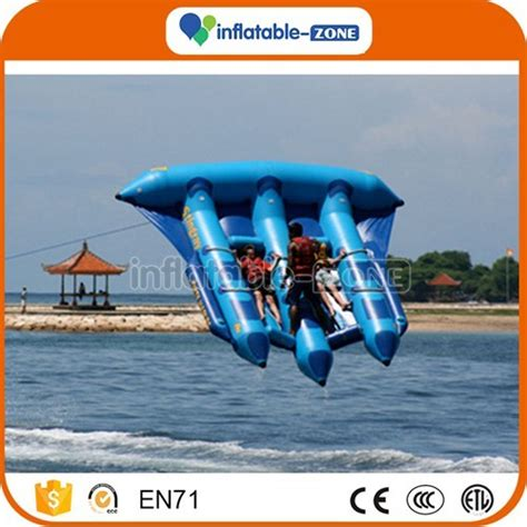 flying boat towables free shipping inflatable flying fish tube banana boat