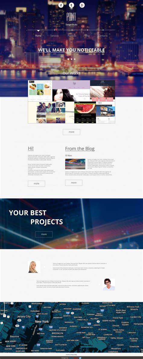 free website template for design agency free templates
