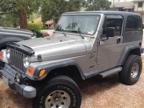 2001 Jeep Wrangler Sport For Sale 2001 Jeep Wrangler Sport For Sale Near Peterson Afb