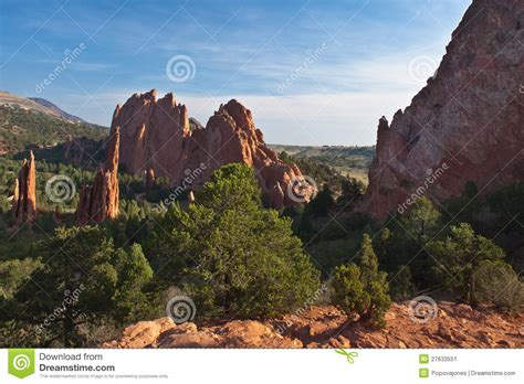 Garden Of The Gods Horseback by Amazing View Of Garden Of The Gods Stock Image Image