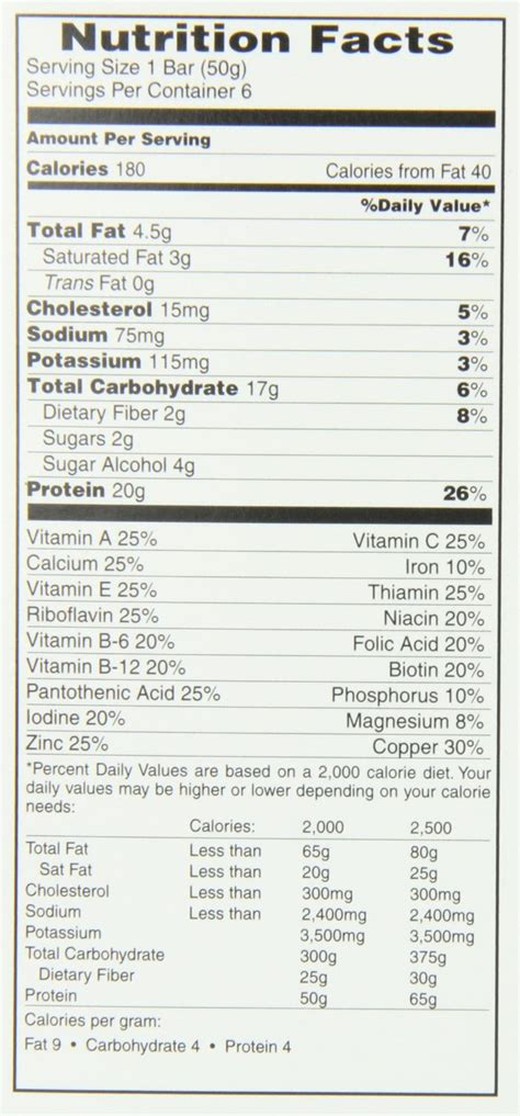 protein nutrition facts protein bar nutrition facts nutrition ftempo