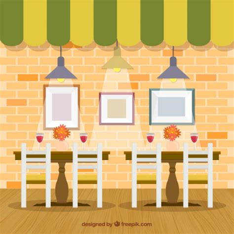 cafe interior design vector interior restaurant in flat style vector free download