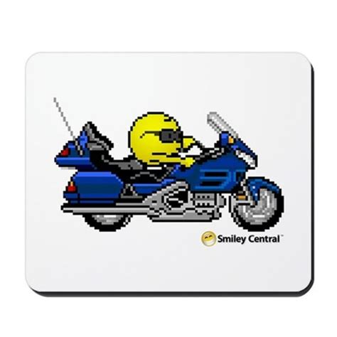 Motorrad Smiley by Motorcycle Smiley Mousepad By Smileycentral