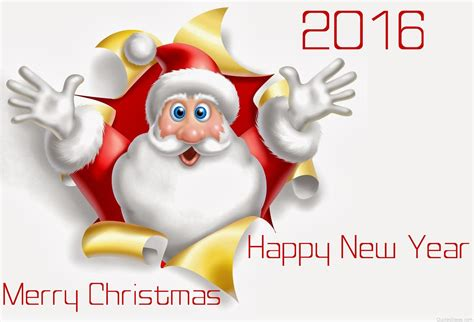 new year 2016 captions merry and happy new year 2016 santa claus