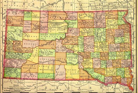 south dakota usa map south dakota map