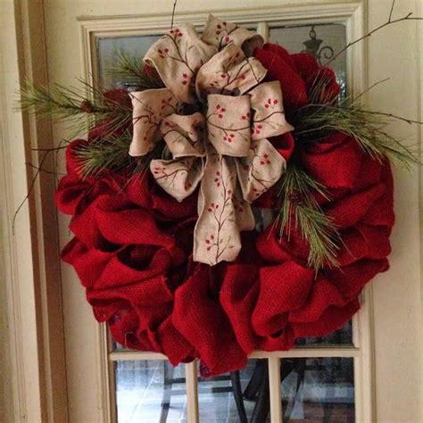 1000 ideas about burlap ribbon wreaths on pinterest
