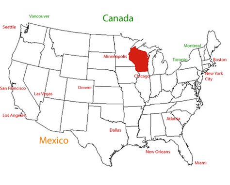map usa wisconsin wisconsin location