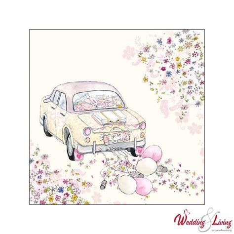 Just Married Auto Zeichnung Zum Ausdrucken by Serviette Auto Just Married Creme