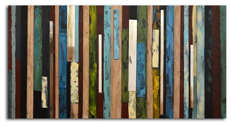 Vertical Collage Hand painted Canvas Wall Art   Modern   Artwork   by My Art Outlet