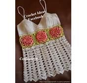 Blusa Em Crochet Com Flores  Claudineia Antunes