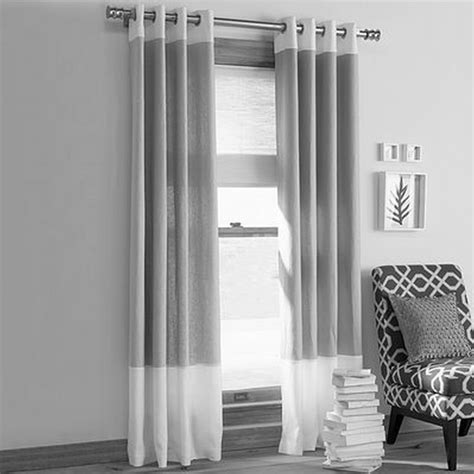 grey and white drapes contemporary living room decorating ideas with fancy