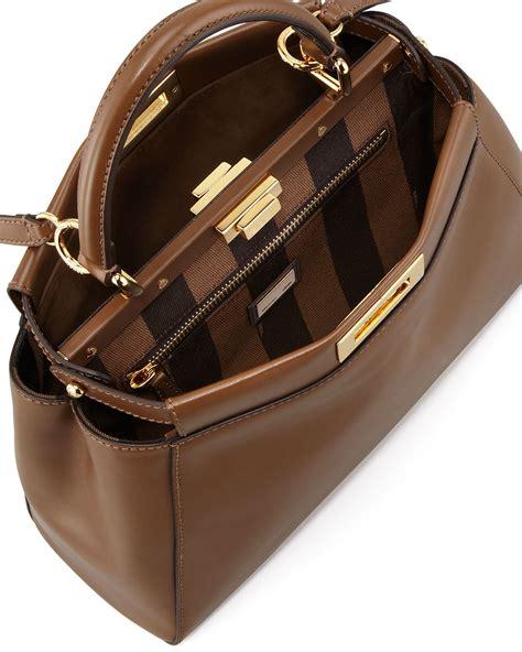 Fendi Peekaboo Brown a look at fendi peekaboo bag interior designs and materials spotted fashion