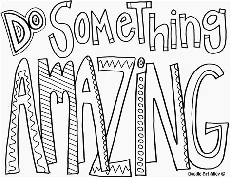 do more coloring books do something amazing quote coloring pages