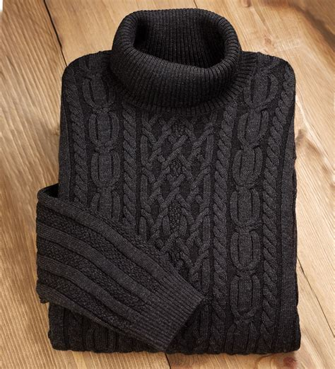Cable Sweter fisherman cable turtleneck sweater sweater