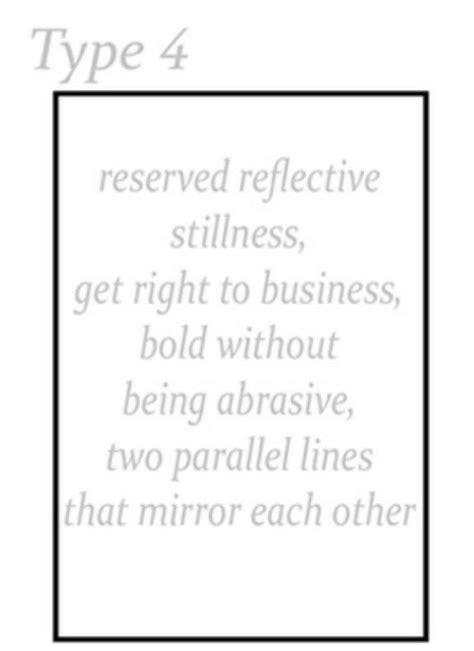 dyt type 4 traits type 4 shape rectangle type 1 2 3 4 pinterest