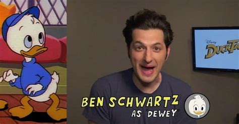 ben schwartz dewey disney revealed the new ducktales cast with adorable theme