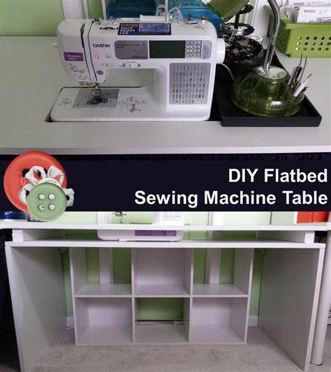diy sewing machine table diy flatbed sewing machine table sewing machine tables