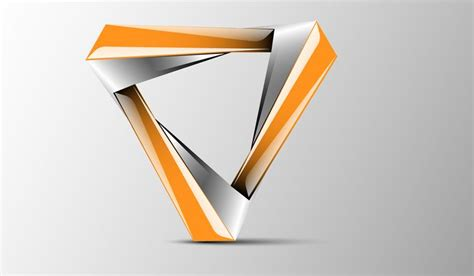 Good Color Combination by New Triangle 3d Logo Design Logo 3d Triangle Design