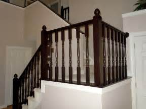 wood banisters remodelaholic diy stair banister makeover using gel stain