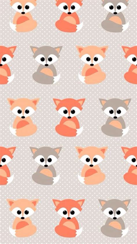 wallpaper for iphone 5 mobile9 baby foxes pattern background tap to see more cute and
