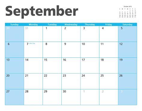 Calendrier 9 Septembre 2015 Calendrier Septembre 2015 Image King