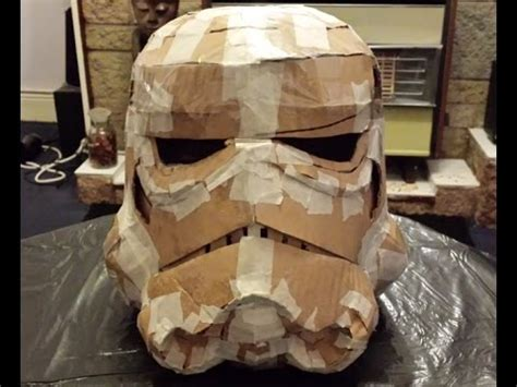 How To Make A Paper Mache Football - trooper helmet paper mache armature