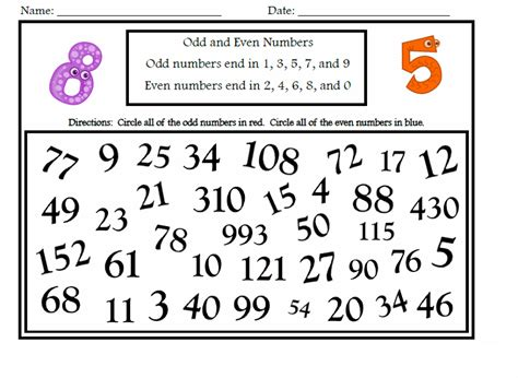 free printable math worksheets even odd easy odd and even worksheets for kids activity shelter