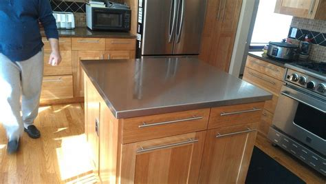 Custom Made Bar Counters Handmade Custom Stainless Steel Counter Top By Valhalla