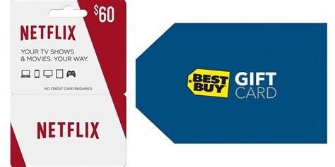Bestbuy Amazon Gift Card - free money buy a 60 netflix gift card and get a free 5 best buy gift card today