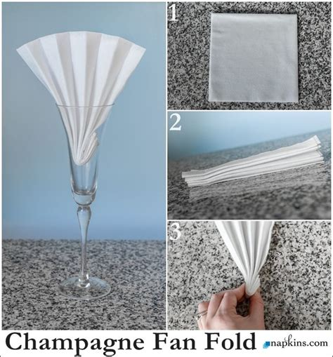 How To Fold Paper Napkins Easy - how to chagne flute fan napkin fold basic napkin