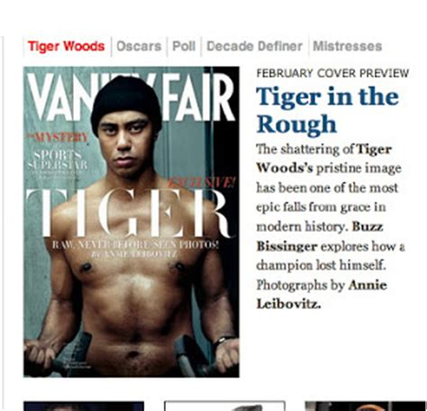 tiger woods in vanity fair amid rehab reports city