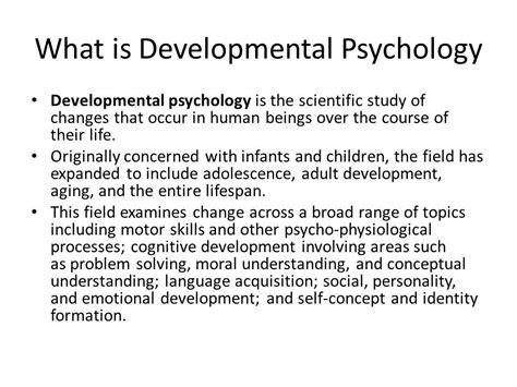 Lifespan Psychology Developmental Psychology Ppt