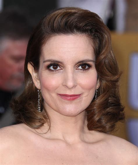 Tina Fey Hairstyle by Tina Fey Medium Wavy Formal Hairstyle