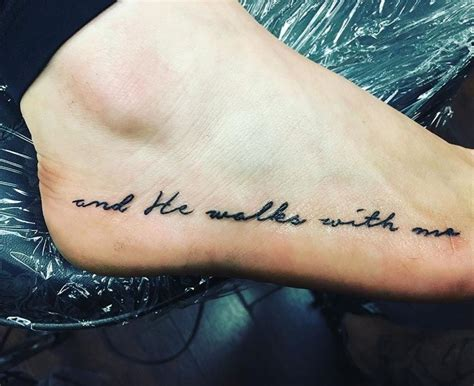 he walks with me tattoo quot and he walks with me quot in loving memory of doris sanford