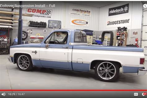 1986 chevy c10 lights ridetech coilover suspension for 73 87 chevy c10