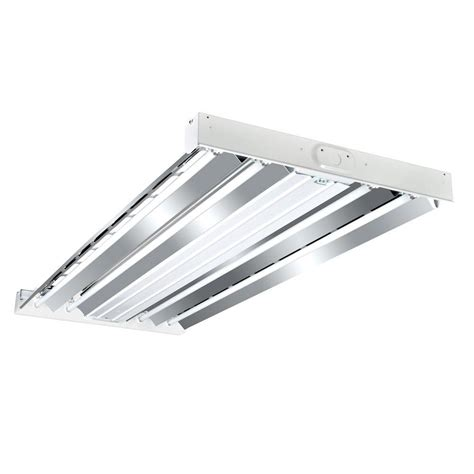 4ft Fluorescent Light Fixture Metalux 4 Ft 4 L White Industrial Grade T5 Fluorescent High Bay Light Fixture Hbl454t5hort1