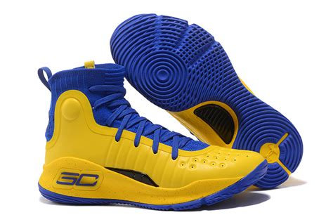 Curry 4 Black Blue 2017 armour curry 4 yellow blue black shoes for