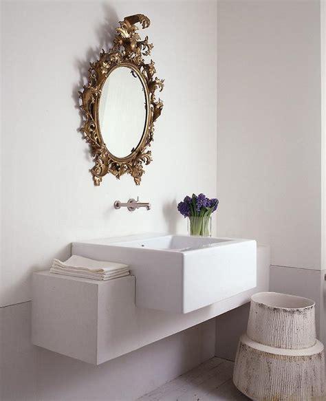 baroque bathroom mirror gold oval baroque mirror in powder room transitional