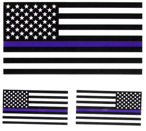 Wakai Black And Blue Flag thin blue line black and