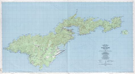 map of american samoa large detailed topographical map of tutuila island