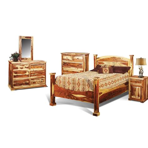Rustic Bedroom Furniture Sets by Tahoe Pine Rustic 6 King Bedroom Set
