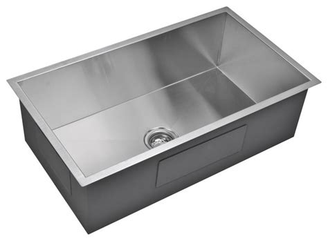 kitchen sink 33 x 19 33 quot x 19 quot zero radius single bowl stainless steel