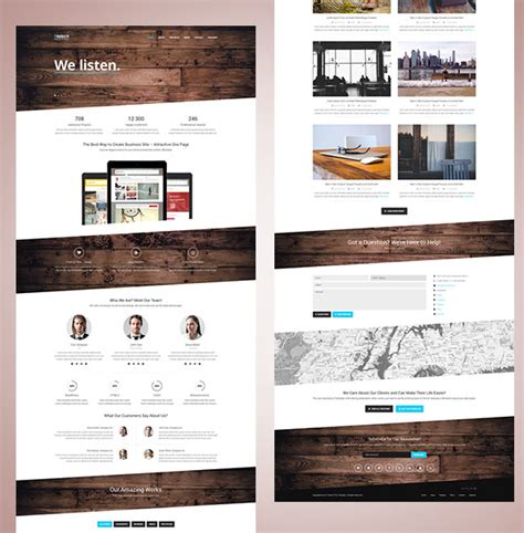 bootstrap website templates one page 20 free responsive html5 templates