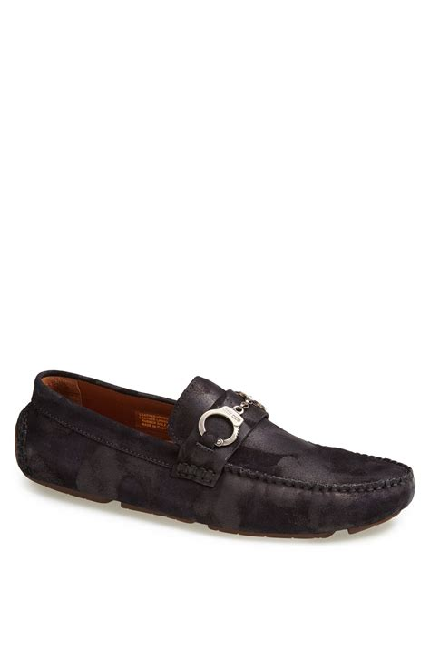 jimmy choo mens shoes jimmy choo brogan driving shoe in blue for navy mix