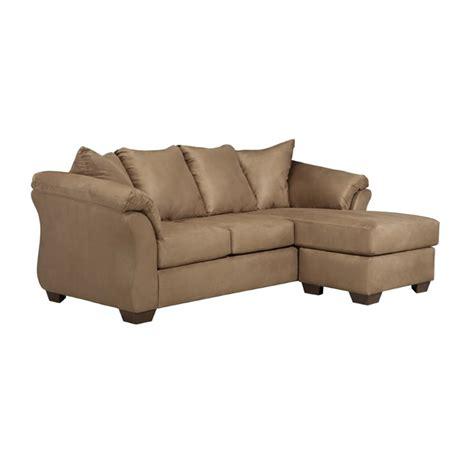 ashley darcy loveseat ashley darcy sofa chaise in mocha 7500218