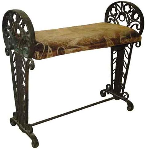 fancy bench 6510 unusual fancy iron window bench by oscar bach from