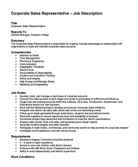 11 sales job description templates pdf doc free