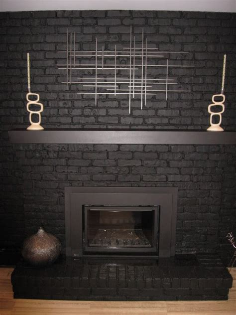 fireplace painted black this is what mine will look like