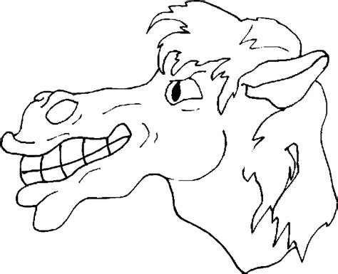 big coloring pages of horses horse coloring pages this horse has a big toothy grin