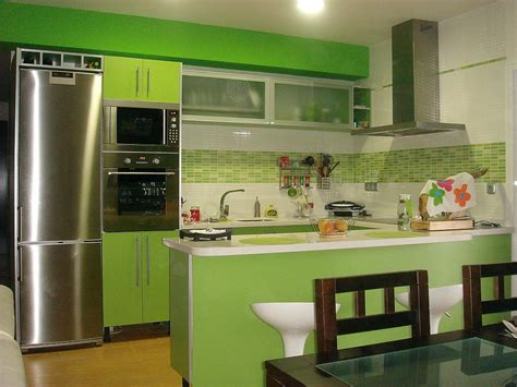 decoracion  ideas  mi hogar  cocinas en color verde